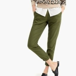 J.Crew | Cotton Twill Easy Pant Hunter Green